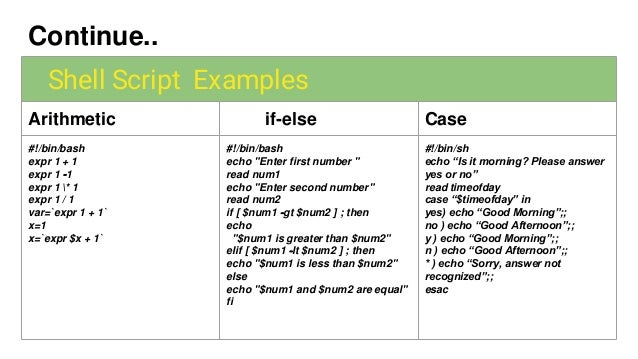 5 bash case statement examples.