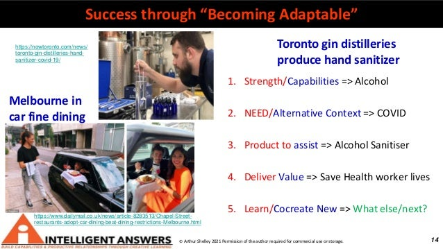 """14 Success through """"Becoming Adaptable"""" © Arthur Shelley 2021 Permission of the author required for commercial use or stor..."""