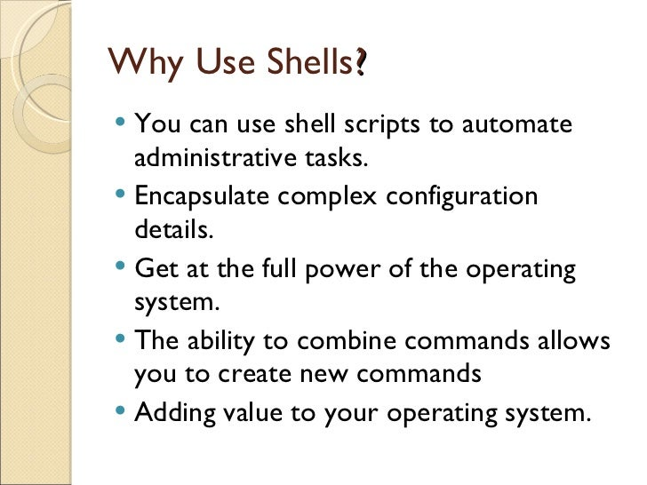 shell programming Bourne shell programming this document is also available in latex2e and gzipped postscript formats the slides that accompanied the original talk are also available.