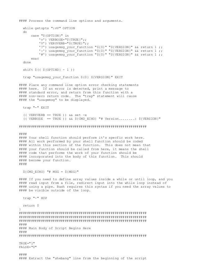 Shellscript template zbksh