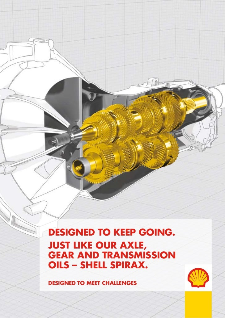 DesigneD to keep going.Just like our axle,gear anD transmissionoils – shell spirax.DesigneD to meet challenges