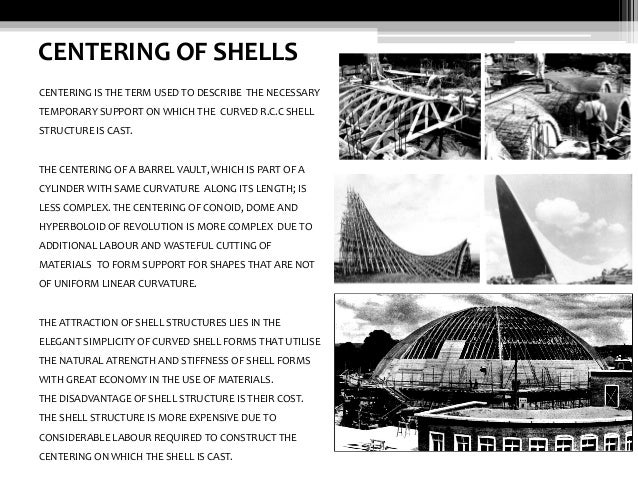 Shell structures advanced building construction 20 centering of shells fandeluxe Image collections