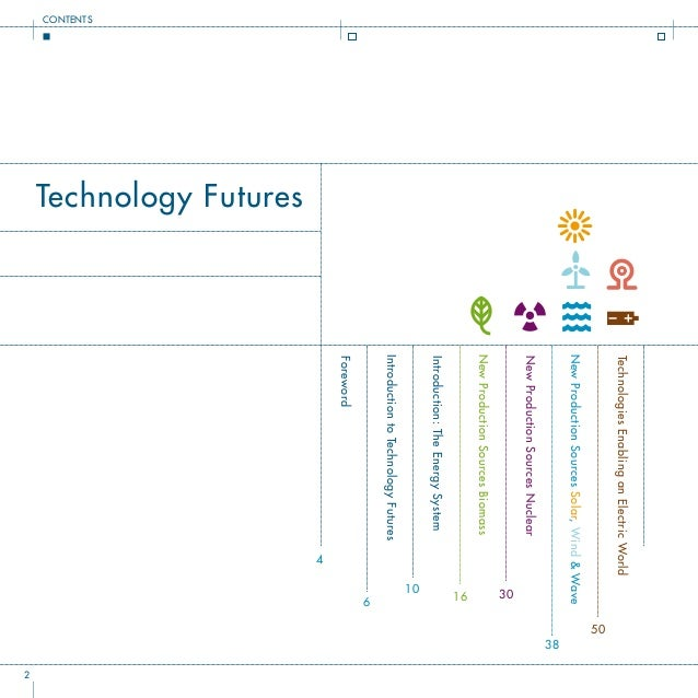Technology Futures Foreword 4 IntroductiontoTechnologyFutures 6 CONTENTS Introduction:TheEnergySystem 10 NewProductionSour...