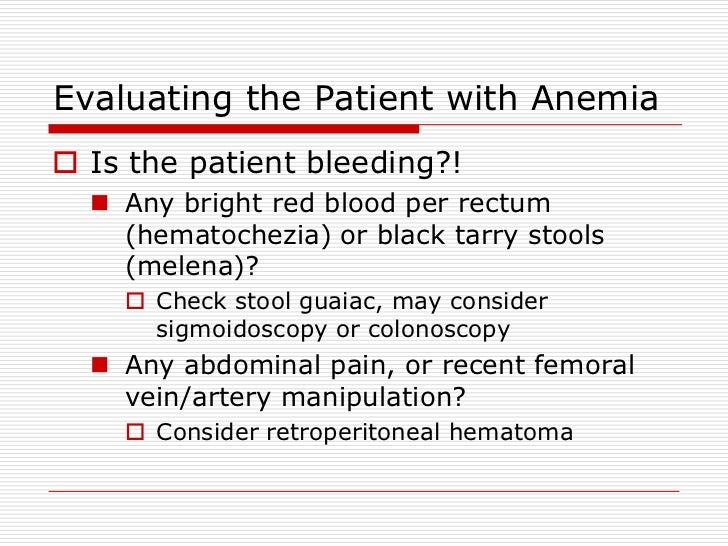 Shelly Anemia