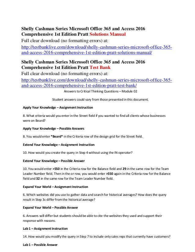 Introductory Shelly Cashman Series Microsoft Office 365 & Access ...