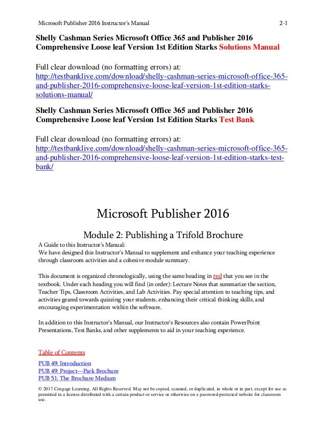 shelly cashman series microsoft office 365 and publisher 2016 compreh rh slideshare net