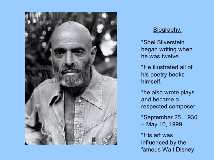 Shel Silverstein Biography: Shel Silverstein.Ppt Slideshow