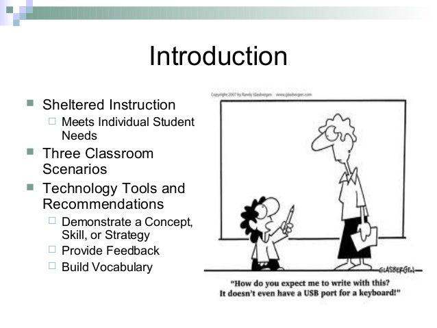 Sheltered Instruction Technology Integration Plan