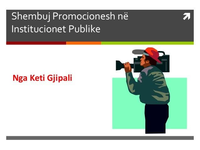 Shembuj Promocionesh në Institucionet Publike Nga Keti Gjipali