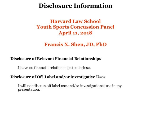 Francis Shen, How to Fix Youth Sports Concussion Statutes