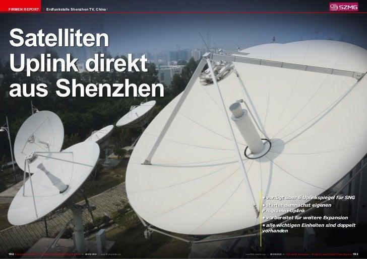 FIRMEN REPORT                          Erdfunkstelle Shenzhen TV, ChinaSatellitenUplink direktaus Shenzhen                ...