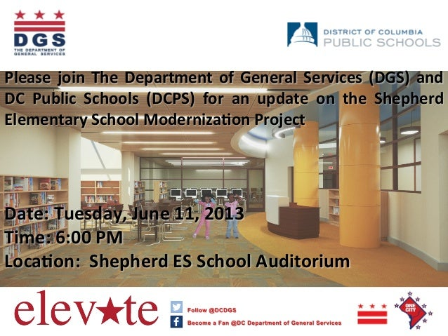Please join The Department of General Services (DGS) and DC  Public  Schools  (DCPS)  for  an...