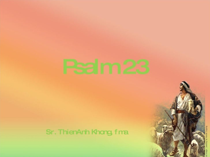 Psalm 23 Sr. ThienAnh Khong, fma
