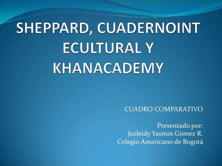CUADRO COMPARATIVO              Presentado por:   Jazleidy Yasmin Gòmez R.Colegio Americano de Bogotá