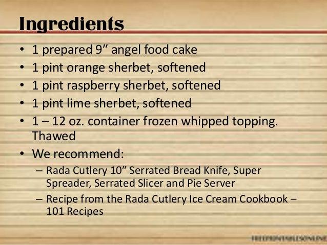 Sherbet Ice Cream Cake Recipe Slide 2