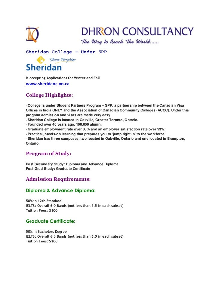 Sheridan College - Under SPPIs accepting Applications for Winter and Fallwww.sheridanc.on.caCollege Highlights:· College i...