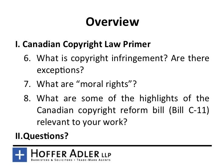 overview of canadian trademark law essay This primer will give a brief summary of each of the with the canadian intellectual property property-law/intellectual-property-law-in-canada/.