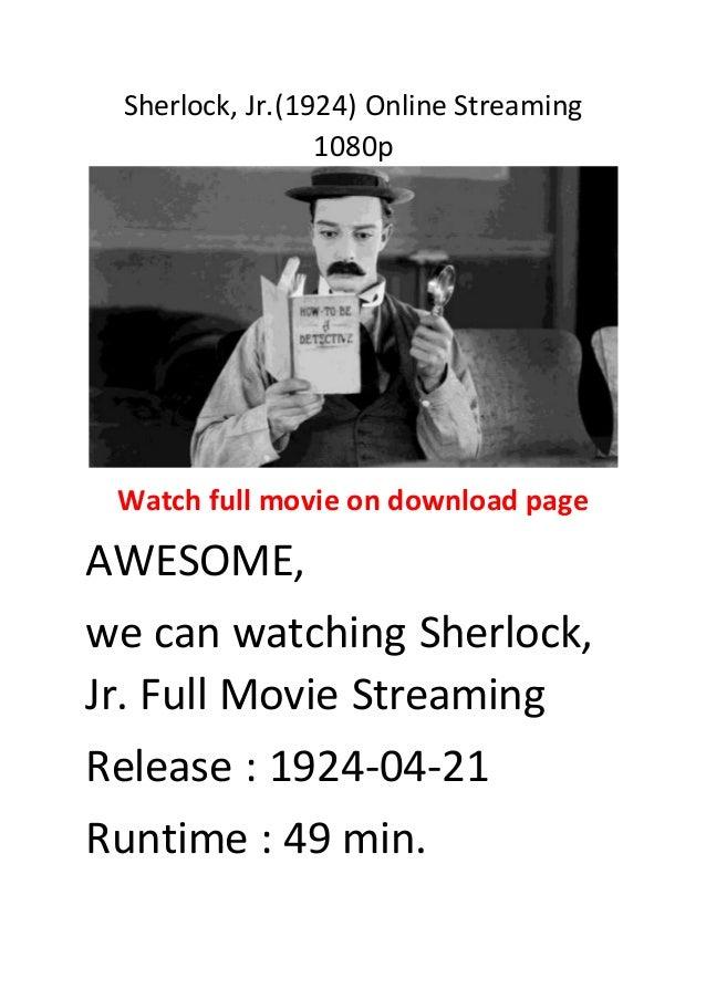 Sherlock, jr (1924) online streaming 1080p best action