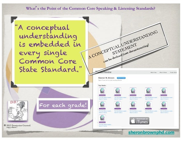 """What's the Point of the Common Core Speaking & Listening Standards?           """"A conceptual                               ..."""