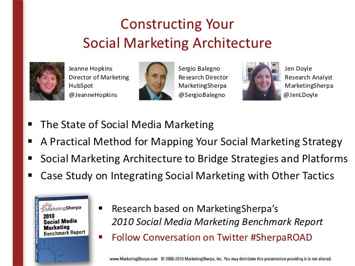 MarketingSherpa's Creating a Social Marketing Architecture Slide 2
