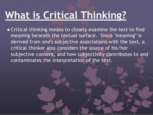 what does critical thinking means What is critical thinking what does critical thinking mean critical thinking meaning - critical thinking definition - critical thinking explanation.