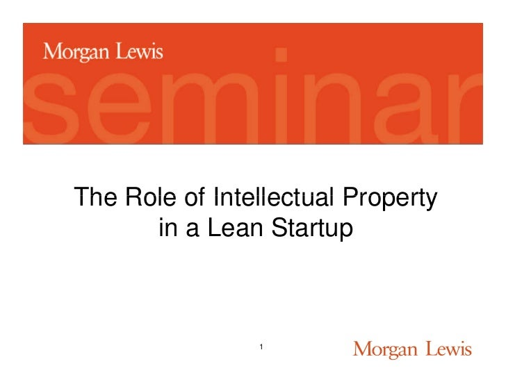 The Role of Intellectual Property      in a Lean Startup                1