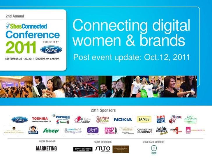 Connecting digitalwomen & brandsPost event update: Oct.12, 2011