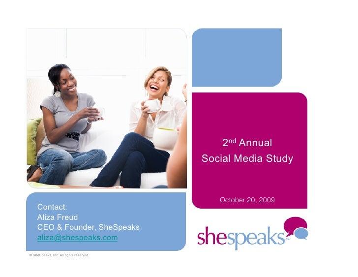 2nd Annual                                          Social Media Study                                               Octob...