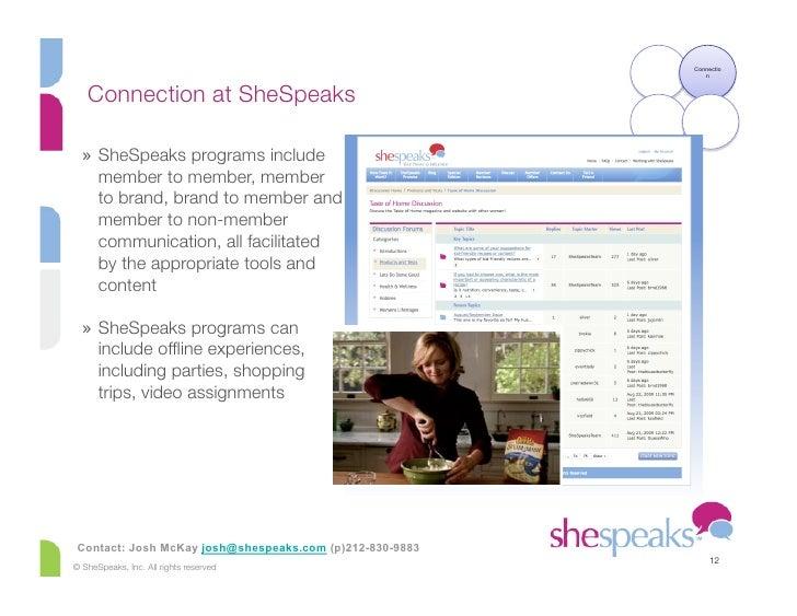 Connectio                                                              n      Connection at SheSpeaks    » SheSpeaks prog...