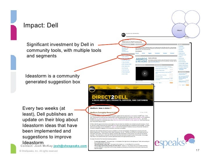 Impact: Dell                                                           IMpact            Significant investment by Dell in...