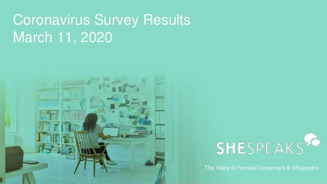 The Voice of Female Consumers & Influencers Coronavirus Survey Results March 11, 2020