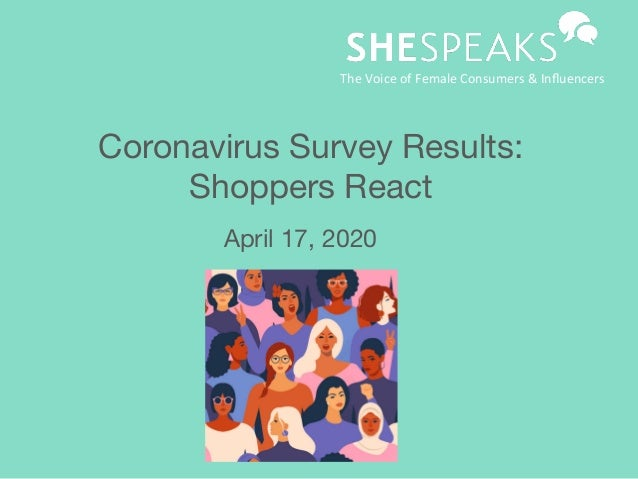 Coronavirus Survey Results:  Shoppers React April 17, 2020 TheVoiceofFemaleConsumers&Influencers