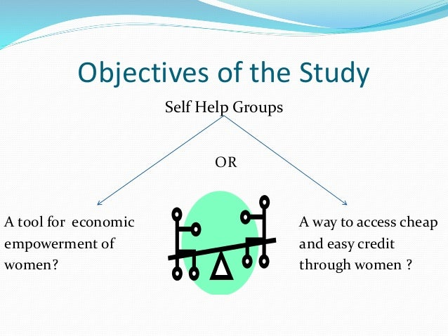 Dissertation on self help group