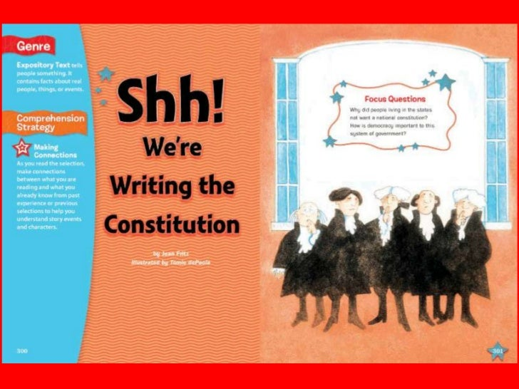 shh we're writing the constitution video A good, quick overview video from the national constitution center (members of teachertube can skip the pre-roll ads) shh we're writing the constitution (31 minutes) grade 1-6 available for purchase from library video company learn how the constitution came to be written books a more perfect union: the story of.