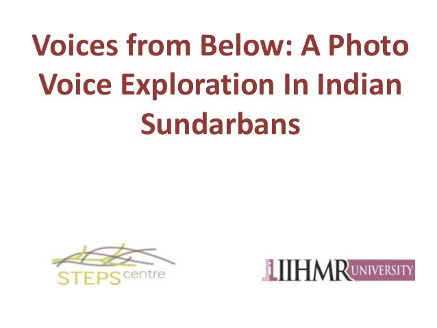 Voices from Below: A Photo Voice Exploration In Indian Sundarbans