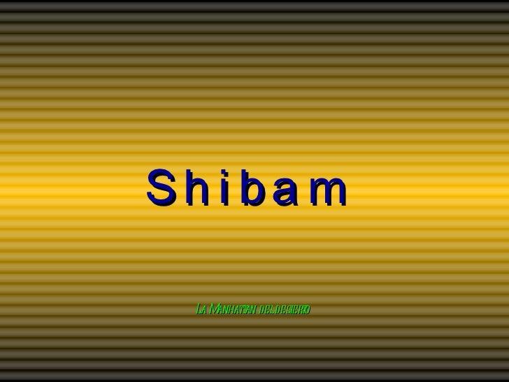 Shibam La Manhattan del desierto