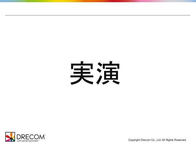 実演 Copyright Drecom Co., Ltd. All Rights Reserved.