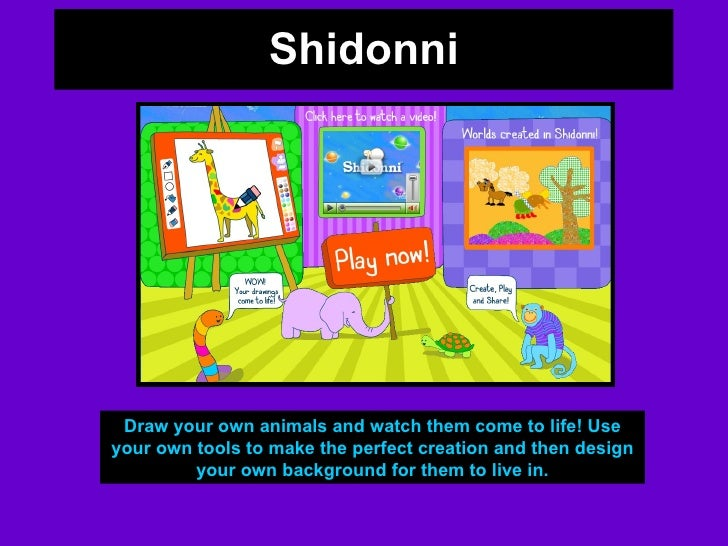 Shidonni Draw your own animals and watch them come to life! Use your own tools to make the perfect creation and then desig...