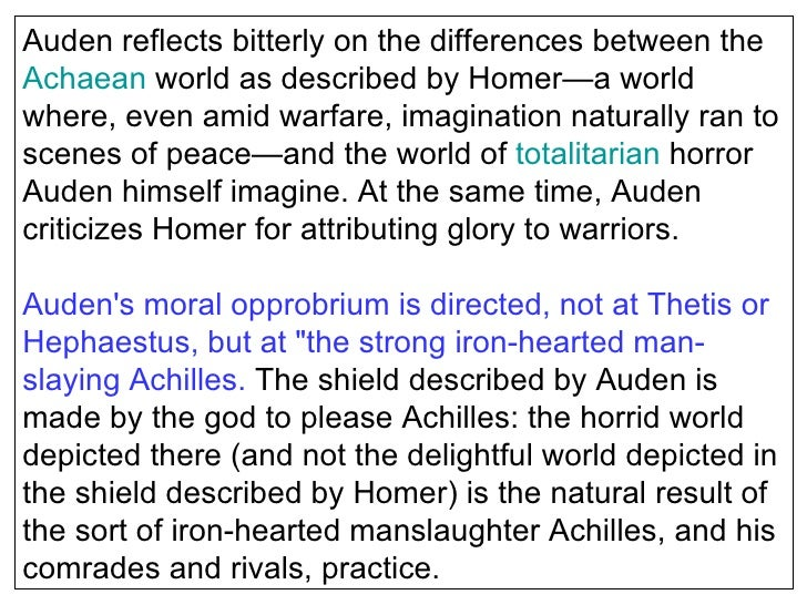 the shield of achilles analysis