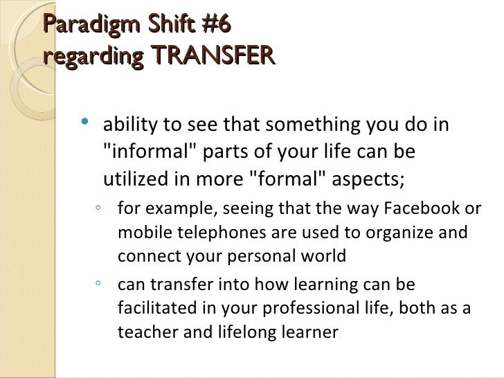 Pln The Paradigm Shift In Teacher And Learner Autonomy