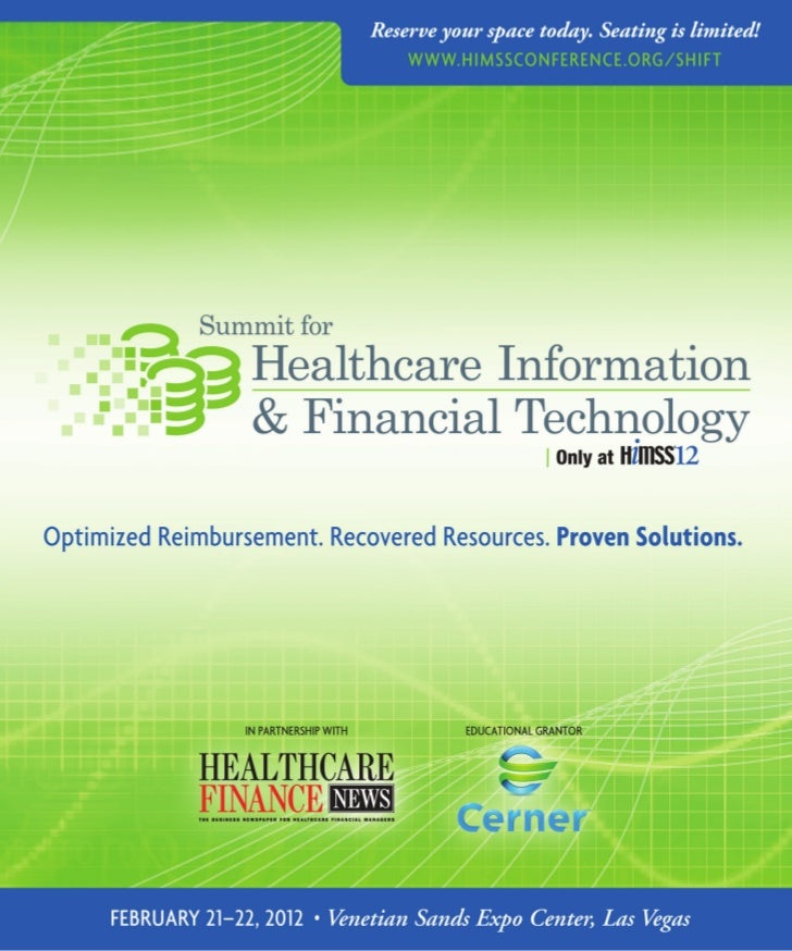 AccelerAte your revenue cycle, increAse      reimbursement, optimize business      processes And improve pAtient cAre.    ...