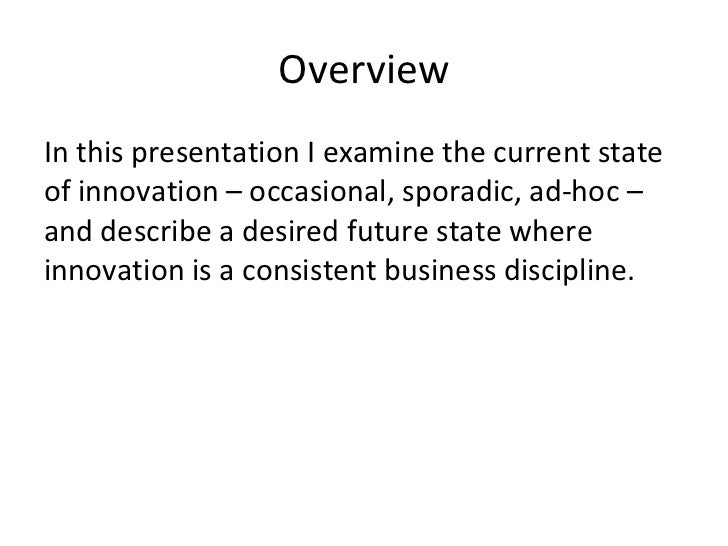 Shift from occasional to relentless innovation Slide 2