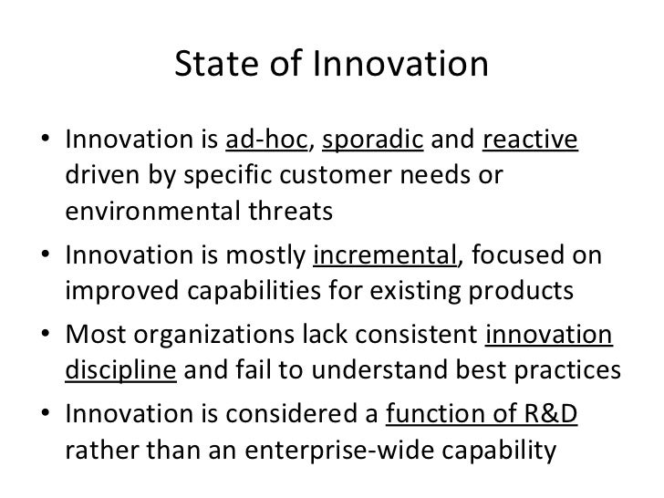 Shift from occasional to relentless innovation Slide 3