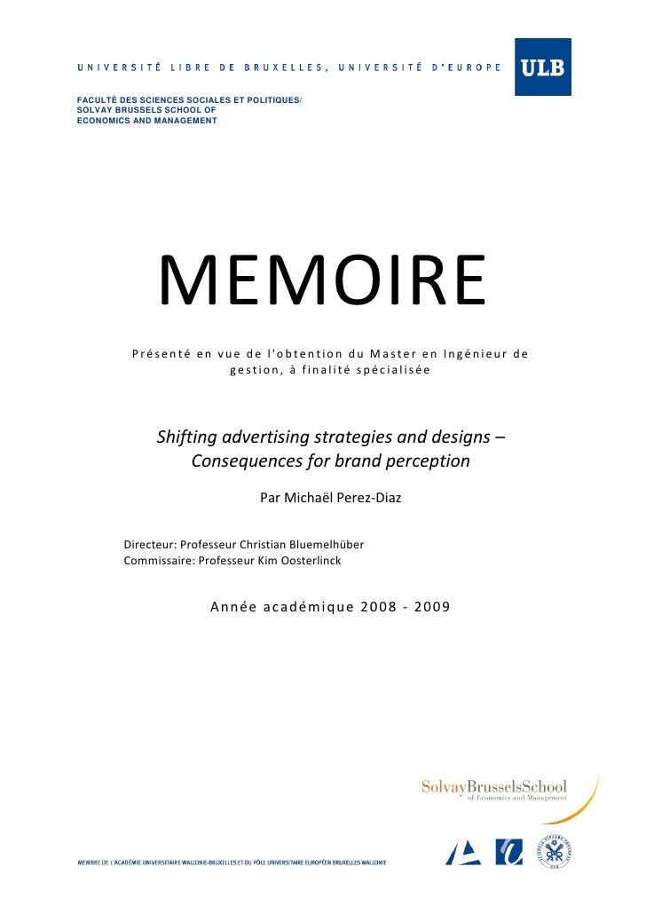Master thesis advertising