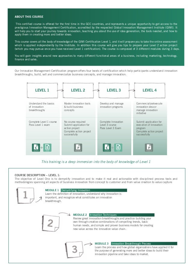 Innovation Management Certification