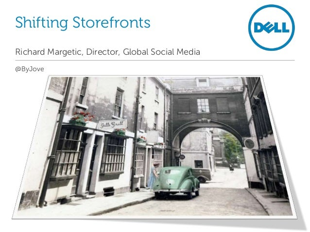 Shifting Storefronts Richard Margetic, Director, Global Social Media @ByJove