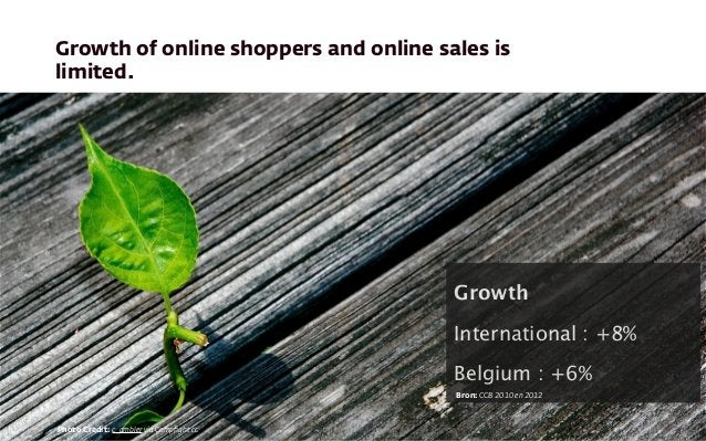 Growth of online shoppers and online sales is limited. Photo Credit: c_ambler via Compfight cc Growth International : +8% B...