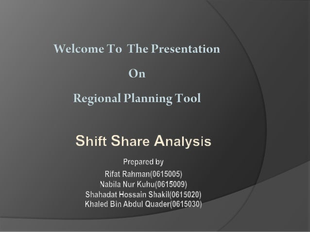 Shift share analysis is a traditional tool; through a descriptive analysis of the productive structure, it allows the com...