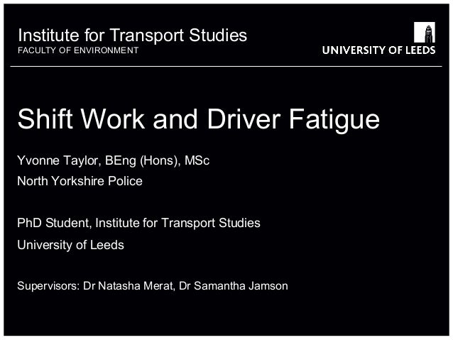 shift work and driver fatigue