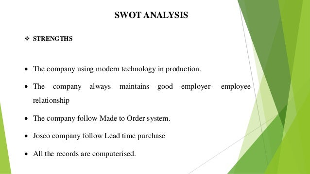 swot ponds Swot analysis the second element of a strategic audit is an analysis of the internal mechanisms of the business this part of the paper uses a swot analysis to identify and critically examine the strengths, weaknesses, opportunities and threats facing unilever  strengths the size of the company is its major strength.